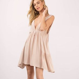 tobi pink embrace the plunge skater dress